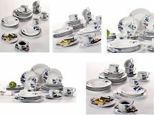 30PC Complete Dinner Set Plates Bowls Mugs Ceramic Dinnerware Kitchen Dining Set