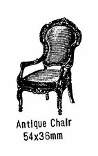 Antique Chair Rubber Stamp