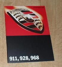 FOLLETO de Porsche 1994 911 993 carrera 4 968 Sport Coupé & Cabrio 928 GTS
