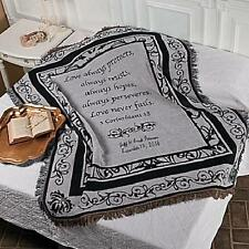 Personalized Religious Newlyweds Throw Blanket w/ Corinthians Quote Wedding Gift