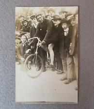 Vintage 1930s Bicycling Real Photograph Postcard Germany Stayer Track Bike RPPC