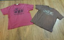 2 Mens Chevy Chevrolet T Shirts XL 68 Camaro SS & Chop Shop Skull & Wings
