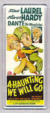 LAUREL & HARDY  in 'A-HAUNTING WE WILL GO' - WIDE FRIDGE MAGNET -  Classic!