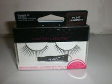 REVLON FANTASY LENGTHS PAIR OF GLUE ON EYELASHES 2X INTENSITY 91247 NIP W/ GLUE