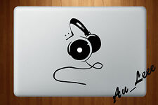 Macbook Air Pro Vinyl Skin Sticker Decal DJ Music Beat Headphones Ear M457