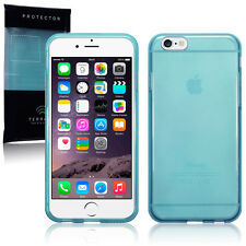 Genuine High Impact Rubberised Gel Case Micro Thin Bumper Blue for iPhone 6S