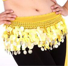 Indian Belly dance Hip Scarf waistband belt skirt GOLD Coin Sequin Belt OR PANTS
