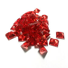 50 PCS - Red Square Resin Faceted Crystal Cabochon Rhinestone Finding C0788