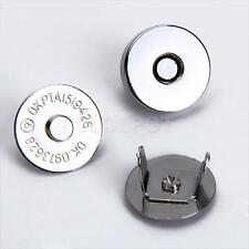 10sets Sewing Buttons Magnetic Clasps for Bag Handbag Clothes DIY Craft 18mm