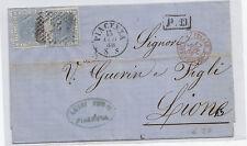 V362-VITT.EM.II°-LETTERA DA PIACENZA A LIONE 1868