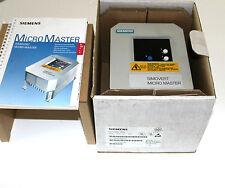 Siemens Simovert Micromaster 6SE3012-6BA00 6SE3 012-6BA00 NEW NEU /NO 1283