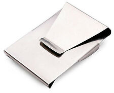 Stainless Steel Slim Double Side Credit Card / Money Clip