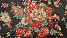 Grand coupon : 3 mètres  de voile de coton imprimé fleurs liberty