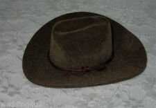"""4"""" Mini Western (2) Cowboy Hats ~Brown~ Party Favors Crafts Wedding Dolls"""