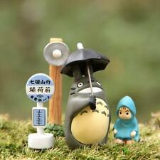 Studio Ghibli Small Street Lamp Bus Stop Umbrella Totoro Raincoat Mei Figure Toy
