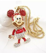 Cute NWT Betsey Johnson Necklace Red Mickey Mouse Super Cute