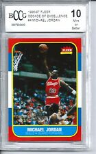 1996 Fleer Michael Jordan Rookie Card BGS BCCG 10 '96 Decade of Excellence 1986