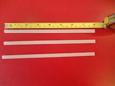 "3 P-tex Ptex rods candles clear / white to repair Ski or Snowboard bases 8"" long"
