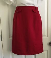 Talbots Women's Size 10 Red Wool A-Line Skirt