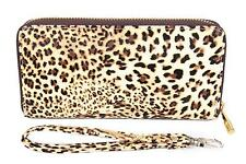 FreshGadgetz Cheetah Snow Leopard Print Monedero Billetera para mujeres Damas-Marrón
