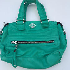 L@@K DIESEL LADIES WOMENS GREEN FAUX LEATHER HANDBAG