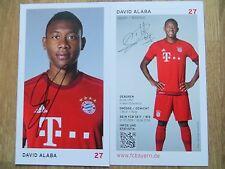 Handsignierte AK Autogrammkarte *DAVID ALABA* FC Bayern München 15/16 2015/2016