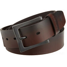 "Carhartt Work Belt Mens 1-1/2"" Leather Anvil Belts Metal Buckle 2203 Brown Black"