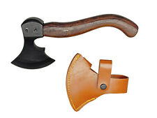 2 lb Curved Wood Handle Crescent Blade Medieval Battle Axe Hatchet Forged Steel