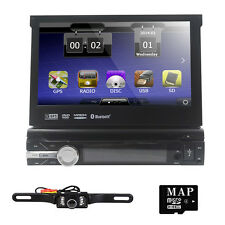 """Car DVD Player Single one DIN 7"""" HD Touch screen Radio iPod RDS Bluetooth+Camera"""