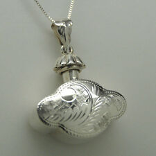 Heart Cremation Urn Necklace Sterling Silver Cremation Jewelry Memorial