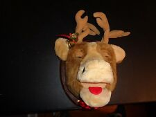 RARE VINTAGE CHRISTMAS ANIMATED SINGING BIG BUCK TROPHY DEER BELLS WALL DECOR
