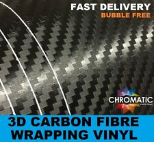 3D Carbon Fibre Vinyl 1.52 x 1.5 Meter Roll Black - Bubble Free Car & Bike Wrap