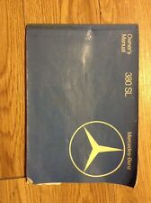 1982 Mercedes 380SL Owners Manual Type 107