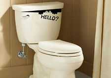 Toilet Monster Hello Bathroom Decal Funny Creative Vinyl Sticker Wall Art