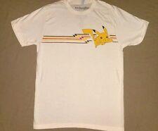 Pokemon Pikachu Adult Men's White Short Sleeve Character Tee Shirt size Medium