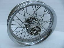 "Harley 16"" Chrome Front Laced Spoke Profile Wheel Touring Softail Road King ?"
