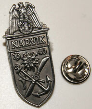 Schlacht um Narvik April 1940 Norwegen Military l Anstecker  Abzeichen l Pin 124
