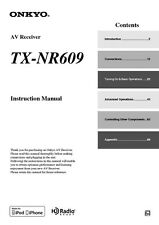 Onkyo Integra TX-NR609 Receiver Owners Instruction Manual