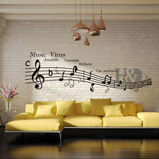 Music Virus Musical Notation Removable Vinyl Decal Wall Sticker Mural Room Decor