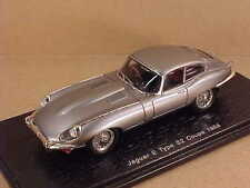 Spark 1/43 Resin 1968 Jaguar E Type S2 Coupe with RHD, Silver  #S2128