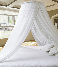 DREAMMA White Round Mosquito Net Princess Bed Canopy Bedroom Curtain Cover Gauze