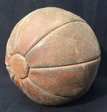 Rare Antique Leather Medicine Ball 8 Panel Early 1900s Boxing Laceless 2.2 Lbs