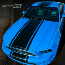 "2013 2014 Ford Mustang Over the Top Rally Racing Solid Center 22"" Stripes Decals"