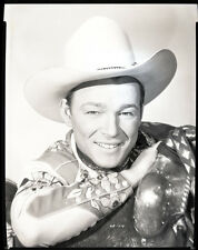 Roy Rogers stunning original studio 8x10 negative portrait in western outfit