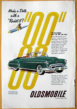 Vintage Magazine Print Ad 1950 Oldsmobile  Rocket 8 Engine and Hydra Matic Drive