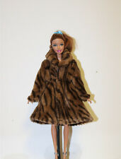 Fashion Doll Clothes Doll Accessories Flannel Zebra pattern coat for Barbie doll