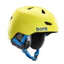 Bern Brentwood Matte Neon Yellow Snowboard Ski Winter Liner Helmet Mens LG-XL