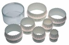 Set of Seven Plastic Double Edged Biscuit / Pastry Cutters