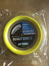 YONEX BG66 FORCE 200M COIL BADMINTON STRING YELLOW COLOUR LEE CHONG WEI'S STRING