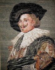 """EP 50725 Vintage Bucilla """"The Laughing Cavalier"""" Tramme Needlepoint Canvas"""